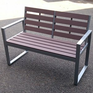 旭興進 人工木ガーデンベンチ AKJB-1260 (6251242)【送料別見積】【大型・割れ物】【取寄せ商品】|handsman