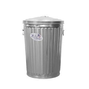 ゴミ箱 ブリキ缶 ふた付き 蓋 / メッキゴミ箱 小 約75L ブリキ バケツ 6519792 送料別 通常配送|handsman