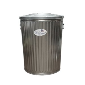 ゴミ箱 ブリキ缶 ふた付き 蓋 / メッキゴミ箱 大 約121L ブリキ バケツ 6519814 送料別見積 大型・割れ物|handsman