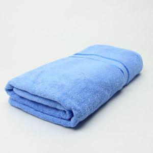 ワイドバスタオル ライトブルー サイズ90cm×160cm 綿100% (6524338)  送料別 通常配送 handsman