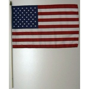 国旗 アメリカ 棒付き小サイズ 旗:30cm×45cm 棒の長さ:60cm (6662242)  送料別 通常配送|handsman