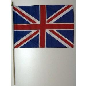 国旗 イギリス 棒付き小サイズ 旗:30cm×45cm 棒の長さ:60cm (6662277)  送料別 通常配送|handsman
