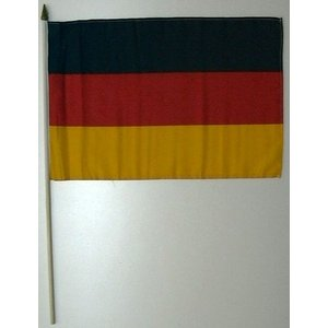 国旗 ドイツ 棒付き小サイズ 旗:30cm×45cm 棒の長さ:60cm (6662307)  送料別 通常配送 handsman