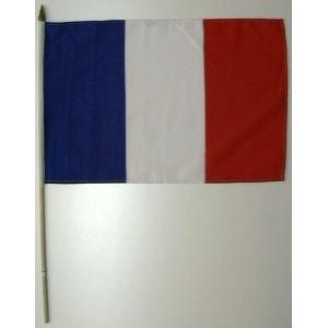 国旗 フランス 棒付き小サイズ 旗:30cm×45cm 棒の長さ:60cm (6662331)  送料別 通常配送 handsman