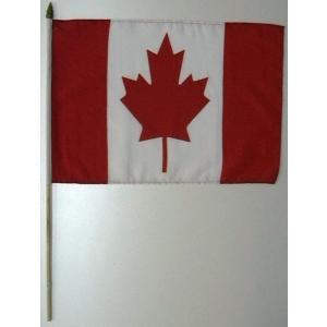 国旗 カナダ 棒付き小サイズ 旗:30cm×45cm 棒の長さ:60cm (6662366)  送料別 通常配送|handsman