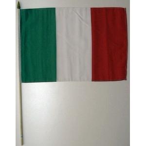 国旗 イタリア 棒付き小サイズ 旗:30cm×45cm 棒の長さ:60cm (6662390)  送料別 通常配送|handsman