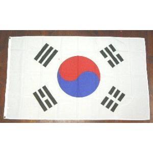 国旗 韓国 大サイズ 90cm×150cm (6662404)  送料別 通常配送|handsman