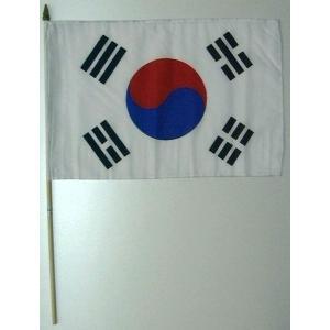 国旗 韓国 棒付き小サイズ 旗:30cm×45cm 棒の長さ:60cm (6662501)  送料別 通常配送|handsman