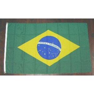 国旗 ブラジル 中サイズ 60cm×90cm (6662528)  送料別 通常配送|handsman