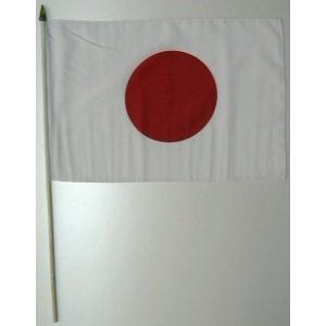 国旗 日本 棒付き小サイズ 旗:30cm×45cm 棒の長さ:60cm (6662595)  送料別 通常配送|handsman