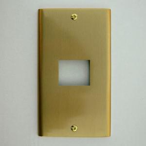 スイッチプレート スイッチカバー 真鍮製 1口 811 (6741770)  送料別 通常配送|handsman