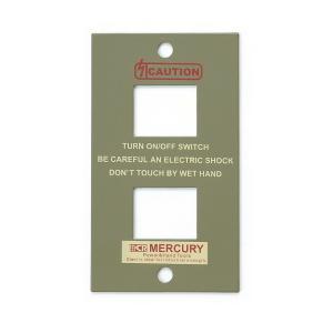 マーキュリー MERCURY スイッチプレート2ヶ口 カーキ MESWPL2K (6776205) 取寄せ商品 送料別 通常配送 handsman