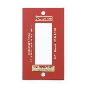 マーキュリー MERCURY スイッチプレート3ヶ口 レッド MESWPL3R (6776256) 取寄せ商品 送料別 通常配送 handsman