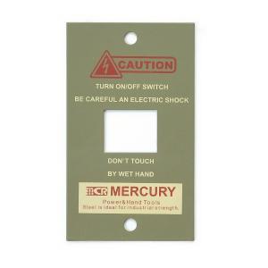 マーキュリー MERCURY スイッチプレート1ヶ口 カーキ MESWPL1K (6776329) 取寄せ商品 送料別 通常配送 handsman