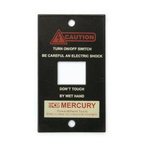 マーキュリー MERCURY スイッチプレート1ヶ口 マットブラック MESWPL1M (6776345) 取寄せ商品 送料別 通常配送 handsman