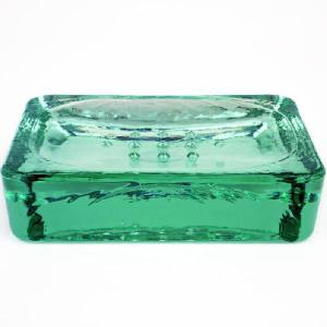 ソープディッシュ 石鹸置き ソープトレー / エコガラスソープディッシュ 5206 6805361 送料別 通常配送 / ソープトレイ 石鹸トレー|handsman