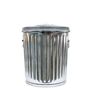 ゴミ箱 ブリキ缶 ふた付き 蓋 / メッキゴミ箱 SS 約38L ブリキ バケツ 6828892 送料別 通常配送|handsman