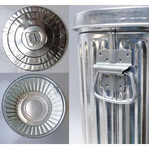 ゴミ箱 ブリキ缶 ふた付き 蓋 / メッキゴミ箱 SS 約38L ブリキ バケツ S&K Products Co. Quality Galvanized Garbage Can 6828892 送料別 通常配送|handsman|02