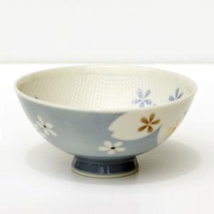 茶碗 ごはん茶碗 ご飯茶碗 美濃焼 つぶ茶碗 やよい桜 青 大 (6837760)  送料別 通常配送|handsman