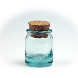 ガラス瓶 コルク瓶 ふた付き 蓋付 / エコガラスボトル コルク栓 円柱 5146 ミニ 容量30cc 6863701 送料別 通常配送 / リサイクルガラス ガラスボトル|handsman