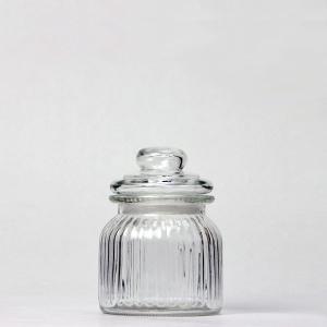 ソーダガラス ストライプキャニスター 105−1 高さ:約13cm (6869653)  送料別 通常配送|handsman