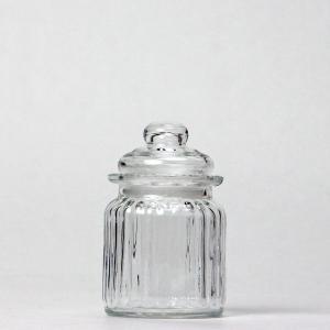 ソーダガラス ストライプキャニスター 105−2 高さ:約15cm (6869661)  送料別 通常配送|handsman