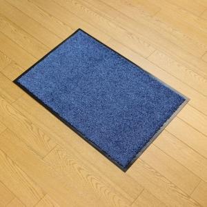 玄関マット W60 ブルー 618−22 室内マット 泥落としマット (6882315) 【送料別】【通常配送】|handsman