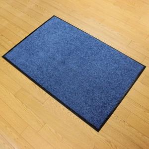 玄関マット W90 ブルー 618−22 室内マット 泥落としマット (6882340) 【送料別】【通常配送】|handsman