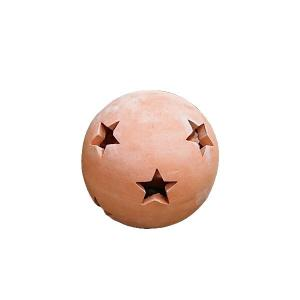 (製造ロット、品名変更)素焼きオーナメント スターボール 15 約15cm (7094531) 送料別 通常配送 handsman