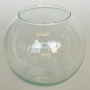 テラリウム 鉢 水槽 ガラス 容器 / エコガラス 金魚鉢 テラリウムポット L 7492367 送料別 通常配送|handsman