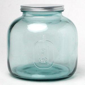 エコガラスボトル 6.0L STORAGE 5797 (リサイクルガラス、スペイン製、直輸入) (7827687) 【送料別】【通常配送】|handsman