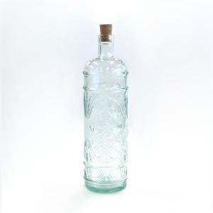 ガラス瓶 ガラスボトル / エコガラスボトル コルク栓 1000cc PLAYFULL 5049 サンミゲル  7828012 送料別 通常配送 / リサイクルガラス コルク瓶 ふた付き 蓋付|handsman