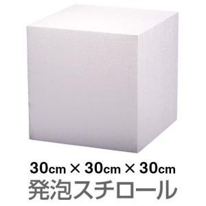 発泡スチロール ブロック 白 ホワイト 300×300×300mm|handsman