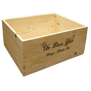 積み重ねできるフリーボックス 大 ナチュラル 木箱 木製ボックス 収納箱 (8182760) 【送料別】【通常配送】【130k4】|handsman