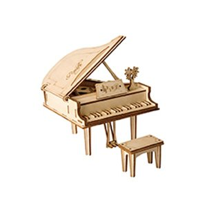 Robotime TG402 662750 グランドピアノ 3D ウッドパズル  8401667 取寄せ商品 送料別 通常配送|handsman