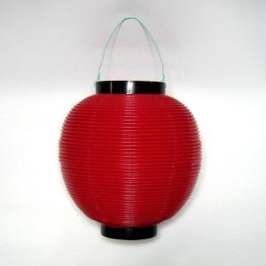 タカのポリ提灯 ちょうちん 赤 レッド 40−7036 直径23cm×高さ24cm (8576165)  送料別 通常配送|handsman