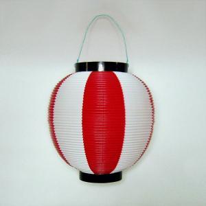タカのポリ提灯 ちょうちん 赤白(紅白) レッド/ホワイト 40−7037 直径23cm×高さ24cm (8576173)  送料別 通常配送|handsman