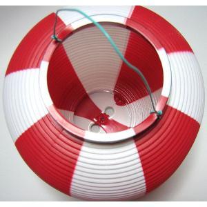 タカのポリ提灯 ちょうちん 赤白(紅白) レッド/ホワイト 40−7037 直径23cm×高さ24cm (8576173)  送料別 通常配送 handsman 02