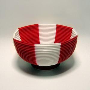 タカのポリ提灯 ちょうちん 赤白(紅白) レッド/ホワイト 40−7037 直径23cm×高さ24cm (8576173)  送料別 通常配送 handsman 03