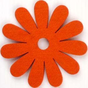 コースター ポリエステルフェルトシリーズ 「フラワー」 オレンジ 05008CDOR (8675724) 【送料別】【通常配送】|handsman