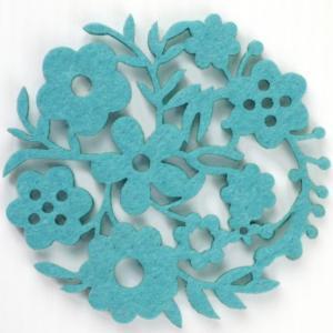 コースター ポリエステルフェルトシリーズ 「ガーデン」 ブルー 41011CDLB (8675864) 【送料別】【通常配送】|handsman