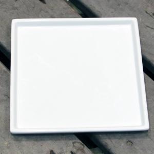 陶器鉢 植木鉢用 皿 受け皿 キューブ / ホワイトポット受け皿 角型 直径20cm 白 陶器鉢用 受皿 鉢皿 四角 園芸 ガーデニング 8905649 送料別 通常配送|handsman