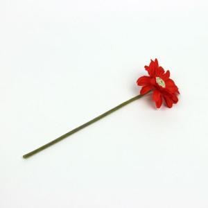 造花 ザ・フラワー ダークオレンジ 11744VO1 DO 花の直径:約10cm 全長:約35cm (9027777)  送料別 通常配送 handsman
