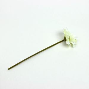造花 ザ・フラワー ホワイト 11744VC2 WH 花の直径:約10cm 全長:約35cm (9027823)  送料別 通常配送 handsman
