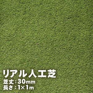 人工芝 リアルターフ 1m×1m×30mm (9069429) 送料別 通常配送|handsman