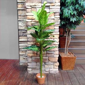 人工観葉植物 エレファントイヤー 16003 高さ約146cm (9078932)送料別見積 大型・割れ物 handsman