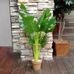 人工観葉植物 モンステラ 17017A 高さ約120cm (9078959)  送料別 通常配送 handsman