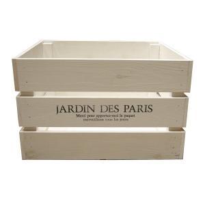 箱 収納ボックス ウッドボックス / アンティークボックス 大 ホワイト 450×300×280mm 木箱 木製 ボックス 収納箱 9210350 送料別 通常配送(113k)|handsman
