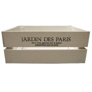 箱 収納ボックス ウッドボックス / アンティークボックス 小 ホワイト 450×300×180mm 木箱 木製 ボックス 収納箱 9210369 送料別 通常配送(105k)|handsman