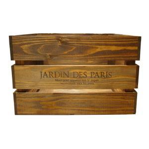 箱 収納ボックス ウッドボックス / アンティークボックス 大 ブラウン 450×300×280mm 木箱 木製 ボックス 収納箱 9210377 送料別 通常配送(113k)|handsman